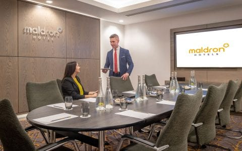 Meeting room at the Maldron Hotel Manchester